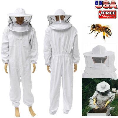 Beekeeper Protection Beekeeping Suit Jacket Veil Hat All Body Equipment Hood Xl
