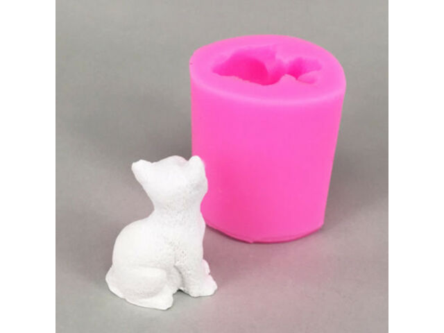 3D Lovely Cat Mould Silicone Candle Mold Fondant C