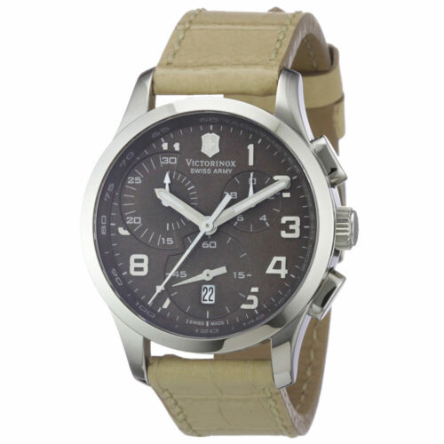 Swiss Army Women's Alliance Chronograph Brown Dial Beige Lea