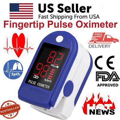 Fda Finger Pulse Oximeter Blood Oxygen Spo2 Monitor Pr Saturation Heart Rate Usa