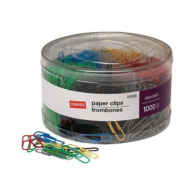 Staples 1 Size Vinyl-coated Paper Clips 1000tub 480108