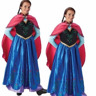 Damen Prinzessin Anna Kostüm Disney Eiskönigin Fever Erwachsene - Anna Kostüm Erwachsene
