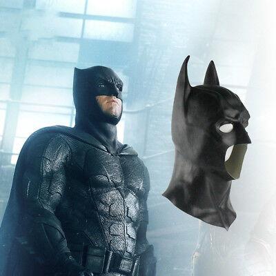 Justice League Batman Bruce Wayne Cosplay Prop Latex Mask Helmet Halloween