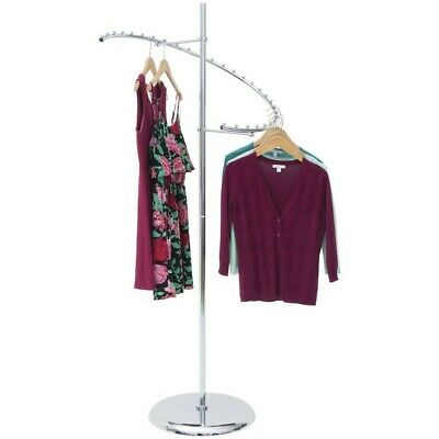 Econoco Spiral Clothing Rack Displays 29 Garments Chrome
