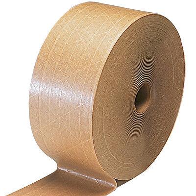 Brown Kraft Paper Gummed Tape 72 Mmx 600 Reinforced Water Activated 1 Rl Read