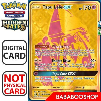 Tapu lele GX Gold SR SV94/SV94 Hidden Fates for Pokemon Card Online TCG Digital