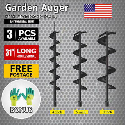 52cc Earth Auger Drill Bit Replacement Electric Garden Planting Auger Us