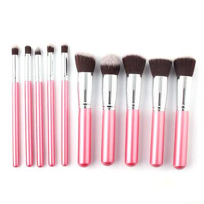 10pcs Brushes Set Pro Cosmetic Makeup Tool Brush Powder Eyeshadow Lip Blush
