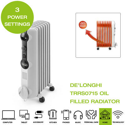 De'Longhi TRRS0715 Oil Filled Radiator - White