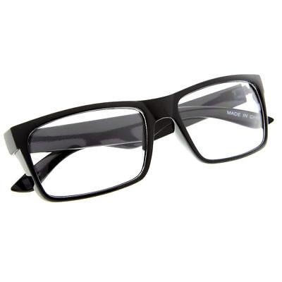 Smart Black Interview Generic nerd Fashion Rectangular Clear Lens Glasses fake](Fake Plastic Glasses)