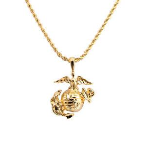 Usmc pendant ebay 20 rope chain with usmc marine corp corps pendant necklace lifetime warranty aloadofball Images