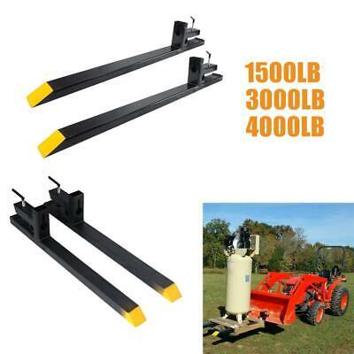 1500lb3000lb4000lb Clamp On Pallet Forks Loader Bucket Skidsteer Tractor Chain