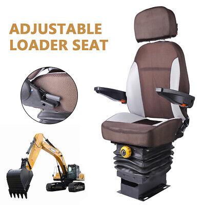 Suspension Seat With Headrest Armrest For Dozer Tractor Skid Steer Seat Us Sale