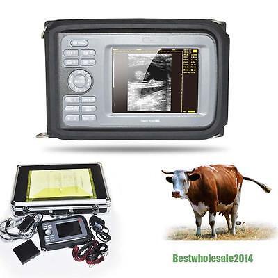 Digital 5 Inch Lcd Handheld Ultrasound Scanner Machine W Rectal Veterinary Fda