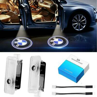 2x LED Projector Car Door Lights Laser Logo Courtesy Puddle Shadow Lamps for BMW