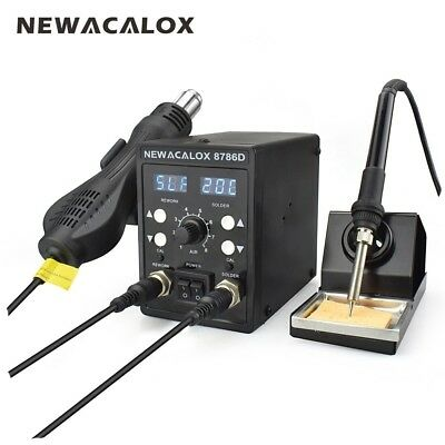 2in1220v750w Digital Soldering Iron Station Desoldering Hot Air Gun Smd Tool