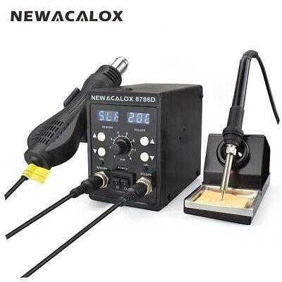 2in1220v750w Digital Soldering Iron Station Desoldering Hot Air Gun Smd Tool