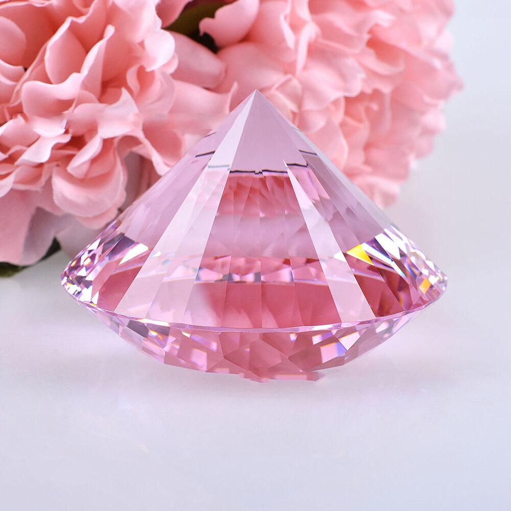 1/10 Pcs Crystal Diamond Cut Shape Paperweight Glass Gem Display Gift Ornament