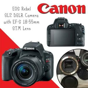 NEW Canon EOS Rebel SL2 DSLR Camera with EF-S 18-55mm STM Lens - WiFi Enabled Condtion: New, 18-55mm, Black