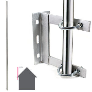 TV Aerial Wall Mounting Kit - Straight Pole/Mast & Outdoor Bracket