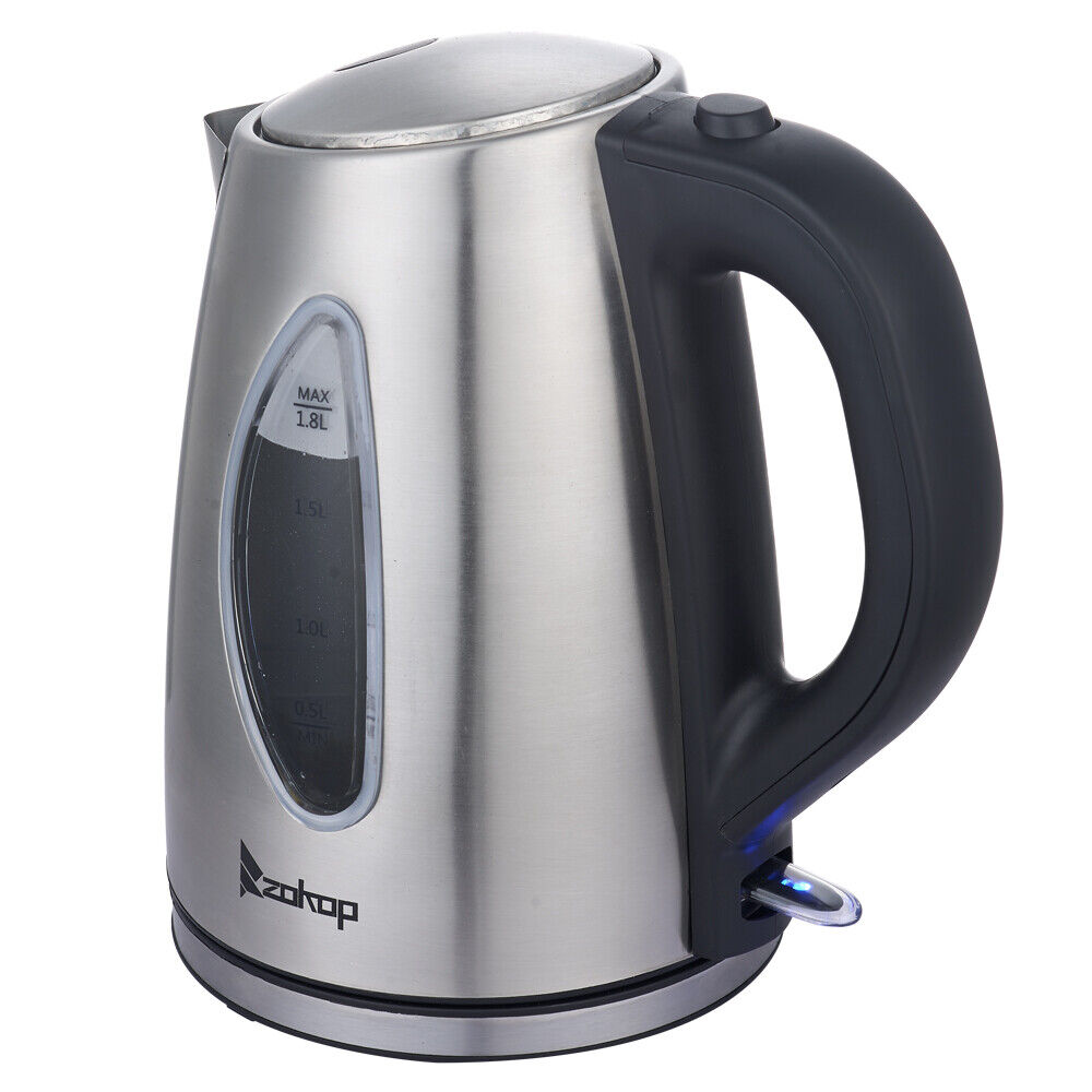 FREE SHIPPING Electric Tea Kettle Stainless Steel 1.8L 1500W