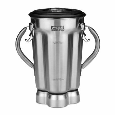 Waring Cac72 1 Gal Stainless Blender Container For Cb10b W 2 Handles Clear Lid