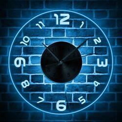 Modern Design Illuminated Multicolor Wall Clock  Interior Decor Hanging Watch