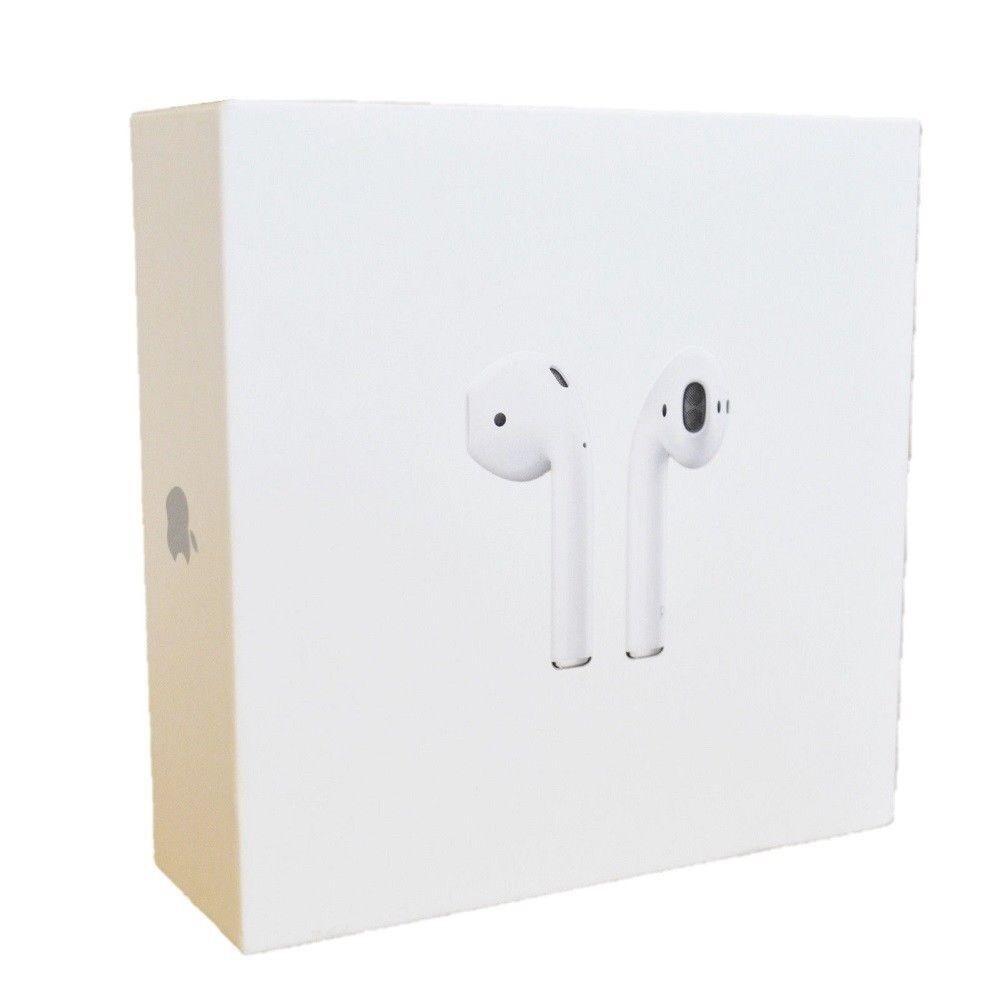 Apple AirPods White Genuine In-Ear Wireless Bluetooth w/ Case MMEF2AM/A - New!