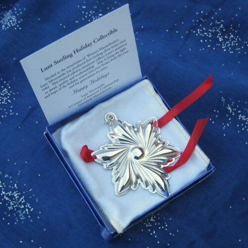RARE • NEW • LUNT 2003 ANNUAL STAR Sterling Silver Christmas Ornament / Pendant