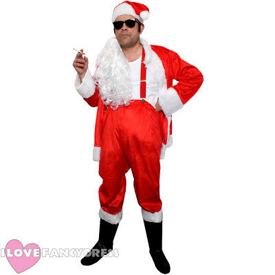 CLASSIC NAUGHTY SANTA COSTUME FUNNY NOVELTY SLEAZY BAD FATHER CHRISTMAS - Bad Santa Kostüm