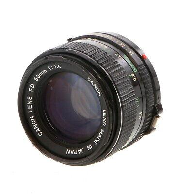 Canon 50mm F/1.4 FD Mount Lens {52} (Black) Made In Japan - UG