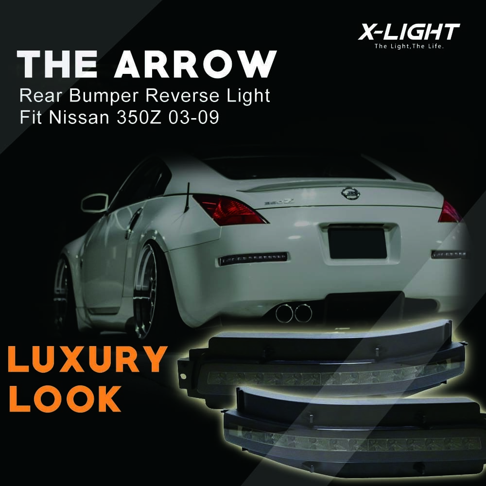 For Nissan 350Z 07-09 Black/Smoke Lens LED Turn Signal/Backup/Brake /Tail Light