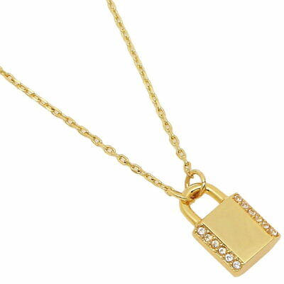 Kate Spade Pave Lock Gold Size 19 inches Necklace WBRUH584921