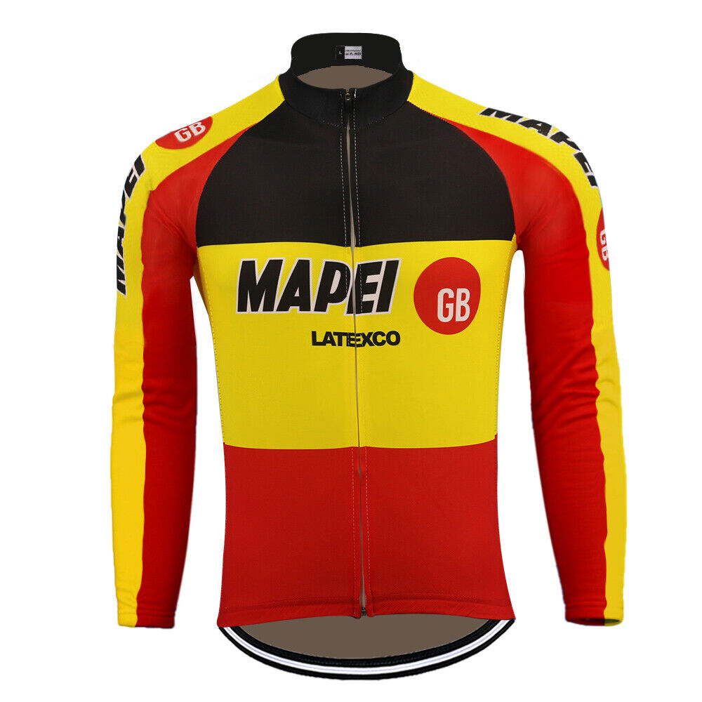 MAPEI GB LATEXCO Retro Cycling Jersey Long Sleeve
