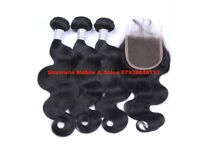 Deluxe Virgin human hair 10a grade. hair extension weave weft Brazilian Peruvian Remy bundles deal