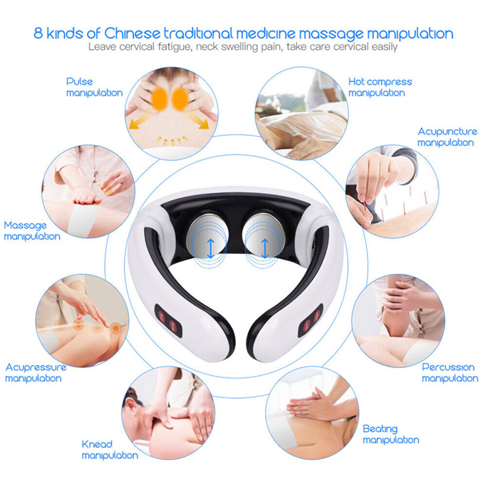 Massagegerät Nacken Schulter Körper Elektrisch Massager Halswirbel Wärmefunktion