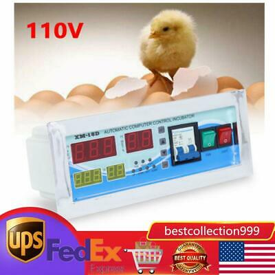 110v Digital Temperature Humidity Controller Incubator Thermostat Sensor Relay