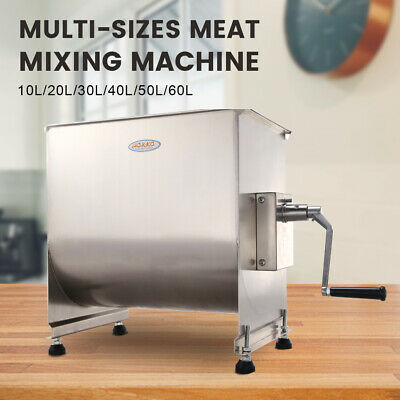 New Hakka 20l40lb Meat Mixer Stainless Steel Hopper Commercial Food Mixer