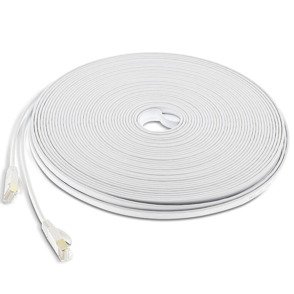 Cat 6 CAT6 Ethernet Cable Cord 150 ft White internet Network Cable High Speed US Computer Cables & Connectors