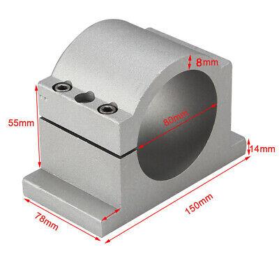 Cnc Spindle Mount Bracket Clamp Cnc Engraving Machine Mill Grind Set 80mm Chuck
