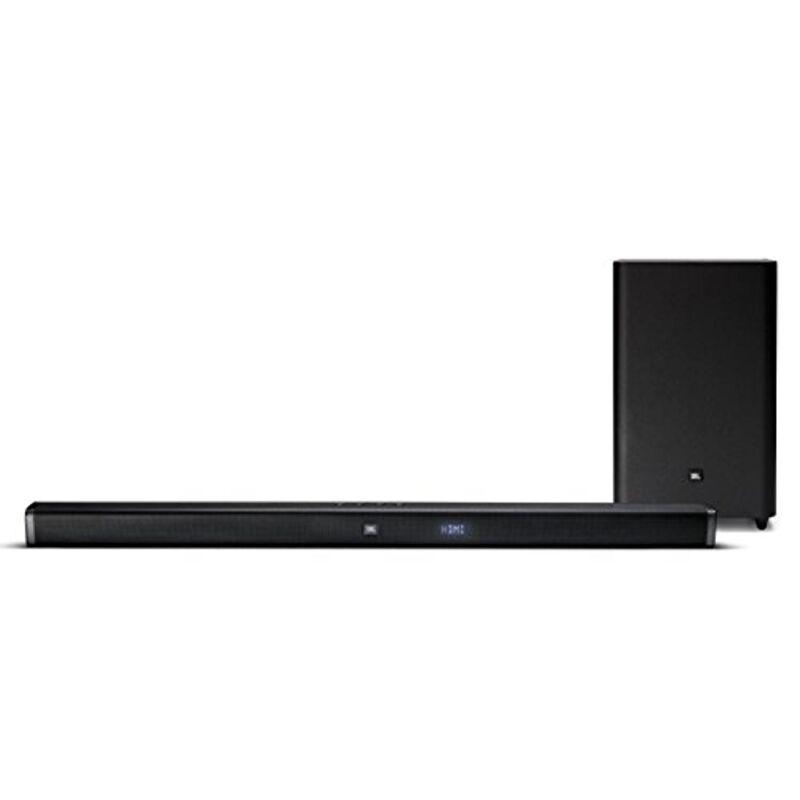 """JBL 2.1-Channel Soundbar System with 6-1/2"""" Wireless Subwoofer and Digital Amplifier Black JBLBAR21BLKAM"""