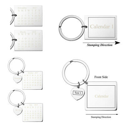 Engraved Calendar Keychain Custom Meaningful Date Keyring Birthday - Custom Engraved Keychains