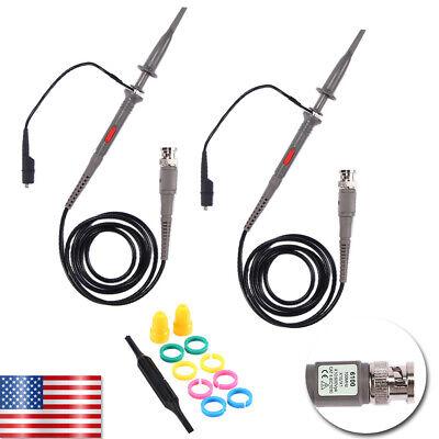 2x 100mhz Oscilloscope Scope Analyzer Clip Test Leads Kit For Hp P6100 Tektronix