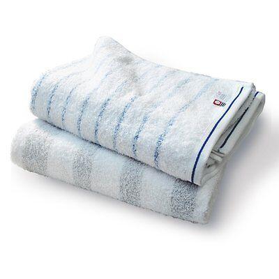 Japanese Imabari Bath Towel 2 pcs set Cotton 100% 125 x 65cm White Made in JAPAN
