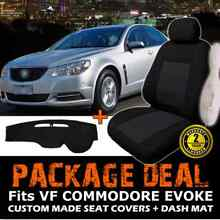 HOLDEN VF COMMODORE EVOKE BLACK CUSTOM SEAT COVERS  & DASH MAT Mile End West Torrens Area Preview