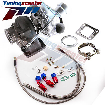 TCT T04E T3T4 AR63 73 TRIM 420HP STAGE III TURBO CHARGEROil Line Kits