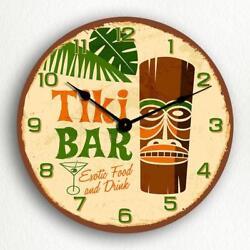Tiki Bar Retro Polynesian Style 12 Silent Wall Clock