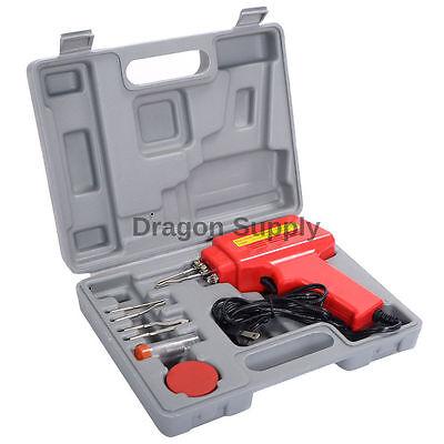 New 5pc 100w Soldering Gun Kit Wcase Iron Solder Professional Style Soldering