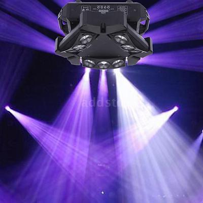 Lixada 90W RGBW Auto Rotating 12/19CH Triangle Spider Lamp Beam Stage Light H9K7