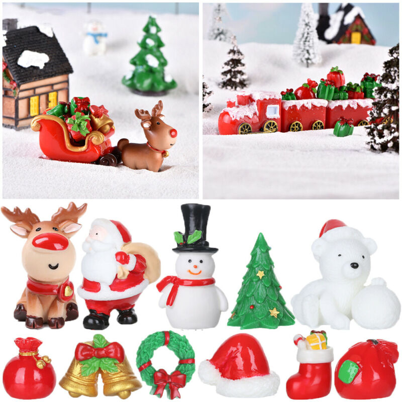 5 Santa Claus Resin Craft Miniatures Micro Landscape Moss Terrarium Decor #1